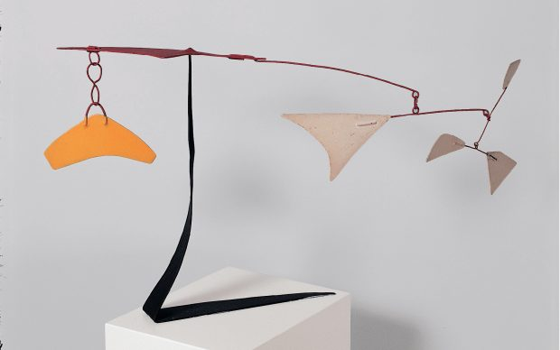 Alexander Calder, Standing mobile, 1974, metallo dipinto, Palazzo Collicola Arti Visive - Museo Carandente Spoleto. Copyright Fototeca Servizio Musei, archivi e biblioteche della Regione Umbria
