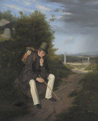 Jørgen Roed, An Artist Resting by the  Roadside, 1832, Statens Museum for  Kunst, Kopenhagen©  SMK  Photo