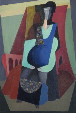 Diego Rivera, Donna in verde, 1916, olio su tela, Museo de Arte Carrillo Gil
