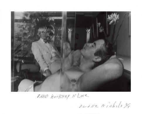 David Hockney in Love, 1977, Courtesy DC Moore Gallery, New York © Duane Michals
