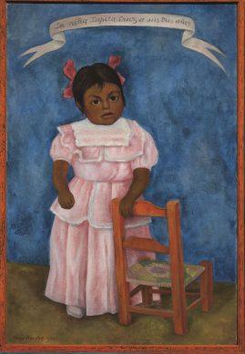 Diego Rivera, La bambina Lupita Cruz a 3 anni, 1954,  olio su tela, collezione privata in comodato, Città del Messico, Museo Nacional de Arte