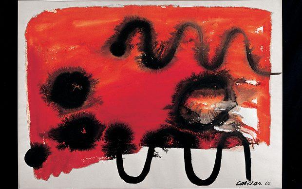 Alexander Calder, Senza titolo, 1962, gouache su carta, Palazzo Collicola Arti Visive - Museo Carandente Spoleto. Copyright Fototeca Servizio Musei, archivi e biblioteche della Regione Umbria