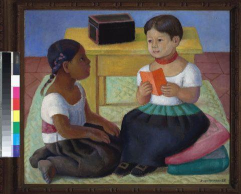 Diego Rivera, Pico e Inesita, 1928, olio su tela, collezione privata in comodato, Città del Messico, Museo Nacional de Arte