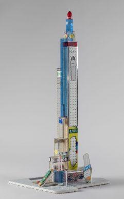 Bodys Isek Kingelez, Nippon Tower, 2005. Courtesy Aeroplastics Contemporary