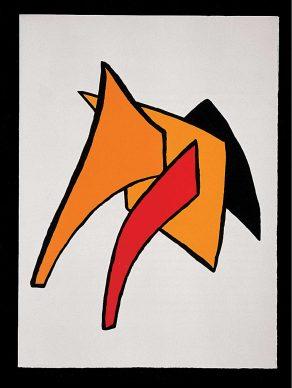 Alexander Calder, Stabile, 1963, gouache su carta, Palazzo Collicola Arti Visive - Museo Carandente Spoleto. Copyright Fototeca Servizio Musei, archivi e biblioteche della Regione Umbria