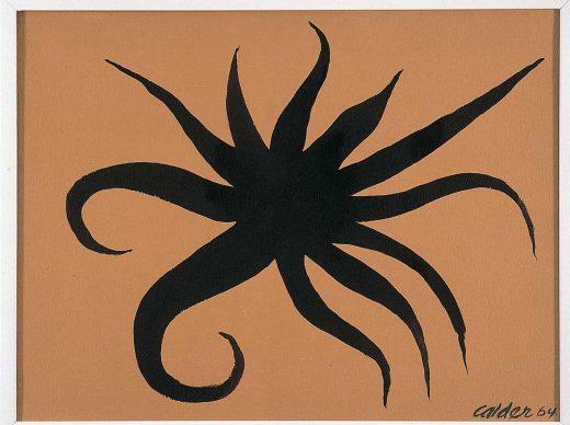 Alexander Calder, Piovra, 1964, gouache su carta intelata, Palazzo Collicola Arti Visive - Museo Carandente Spoleto. Copyright Fototeca Servizio Musei, archivi e biblioteche della Regione Umbria