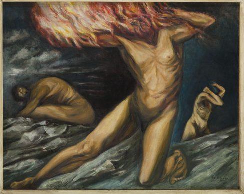 José Clemente Orozco, Prometeo, 1944, olio su tela, Museo de Arte Carrillo Gil