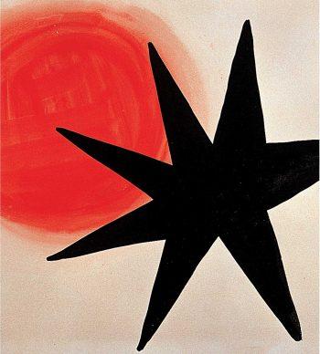 Alexander Calder, Soleil et étoile noire, 1967, gouache su carta, Palazzo Collicola Arti Visive - Museo Carandente Spoleto. Copyright Fototeca Servizio Musei, archivi e biblioteche della Regione Umbria