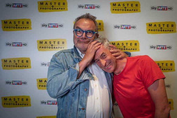 Oliviero Toscani e Maurizio Cattelan