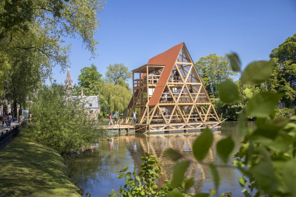 Nlé Kunlé Adeyemi, MFS III - Minnie Floating School, Triennale Bruges 2018 - Liquid City