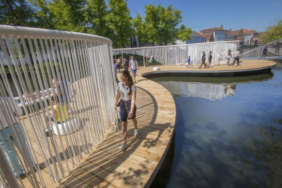 OBBA, The Floating Island, Triennale Bruges 2018 - Liquid City