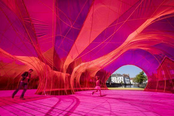 Selgascano, Selgascano Pavilion, Triennale Bruges 2018 - Liquid City