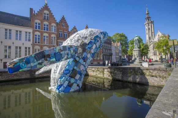 Studio KCA, Skyscraper (the Bruges Whale), Triennale Bruges 2018 - Liquid City