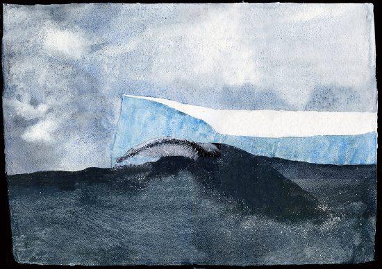 Giorgio Maria Griffa, Iceberg, acquarello su carta, 2017