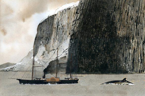 Giorgio Maria Griffa, The Cruise, acquarello e collage su carta, 2017