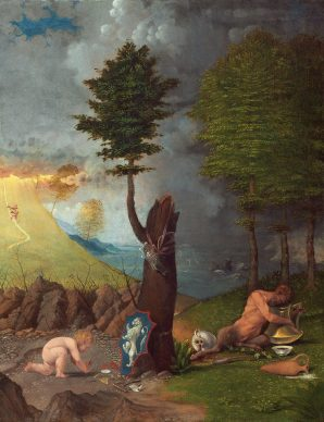 Lorenzo Lotto, Allegory of Virtue and Vice, 1505, Washington, National Gallery of Art, Samuel H. Kress Collection