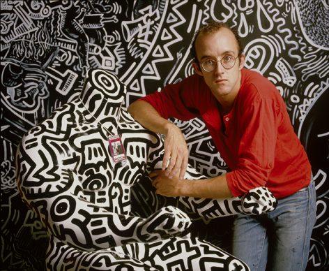 Wolfgang Wesener, Keith Haring, 1986 © Wolfgang Wesener