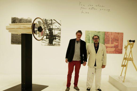 "Peter Coeln and Julian Schnabel  at  the exhibition ""Alfons Schilling. Beyond Photography"",  WestLicht  Museum, Vienna, 2017 © WestLicht Museum"