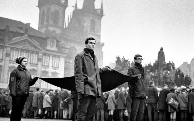 25 January 1969, The funeral procession of Jan Palach,Prague Lammer Vladimir
