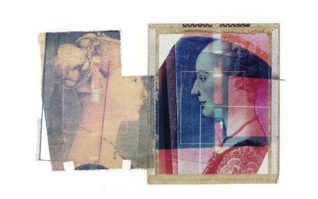 Paolo Gioli - Museo - 1984 - Polaroid su carta da disegno e seta serigrafica
