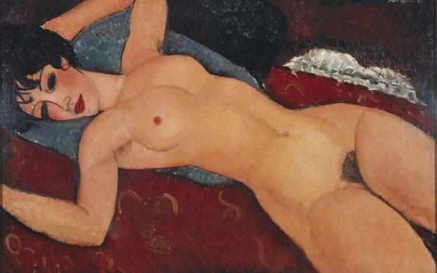 Amedeo Modigliani, Nu couchè, les bras ouverts.jpg