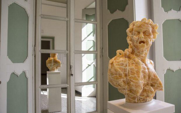 Barry X Ball. The End of History. Exhibition view at Villa Panza, Varese 2018. Photo Viola Azzolin, © FAI ‒ Fondo Ambiente Italiano