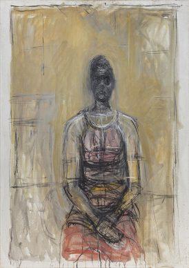 Alberto Giacometti, Caroline in a Red Dress (Caroline avec une robe rouge), ca. 1964–65. Fondation Giacometti, Paris © 2018 Alberto Giacometti Estate/Licensed by VAGA and ARS, New York