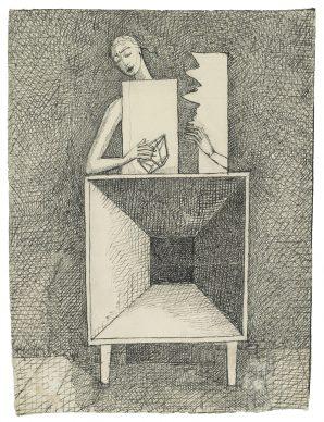 Alberto Giacometti, Surrealist Composition (Composition surréaliste), ca. 1933. Fondation Giacometti, Paris © 2018 Alberto Giacometti Estate/Licensed by VAGA and ARS, New York