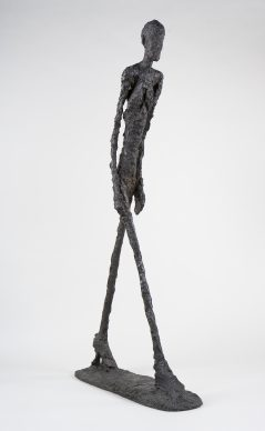 Alberto Giacometti, Walking Man I (Homme qui marche I), 1960. Fondation Giacometti, Paris © 2018 Alberto Giacometti Estate/Licensed by VAGA and ARS, New York