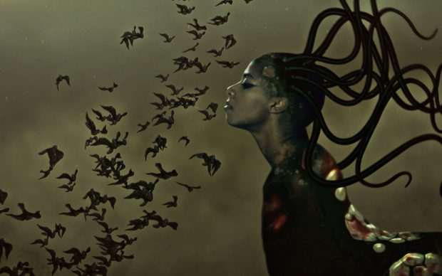 Wangechi Mutu The End of eating Everything, 2013 Animated color video with sound 8 minutes, 10 second loop Copyright Wangechi Mutu Courtesy the artist and Gladstone Gallery, New York and Brussels