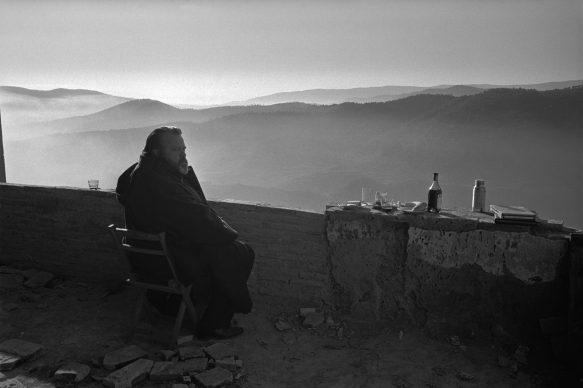 Orson Welles durante le riprese di Falstaff, Spagna 1964
