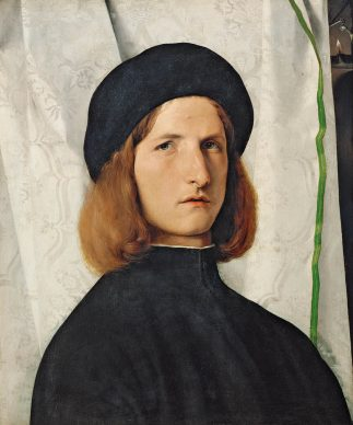 Lorenzo Lotto, Portrait of a Young Man with a Lamp, 1508, Vienna, Kunsthistorisches Museum, Gemäldegalerie