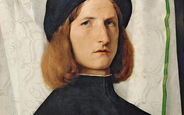 Lorenzo Lotto, Portrait of a Young Man with a Lamp, 1508 Vienna, Kunsthistorisches Museum, Gemäldegaleri