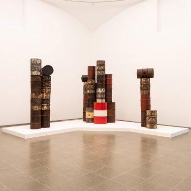 Christo and Jeanne-Claude, Barrels and The Mastaba, 1958-2018, Installation view, Serpentine Gallery, London (19 June– 9 September 2018) © 2018 Hugo Glendinning