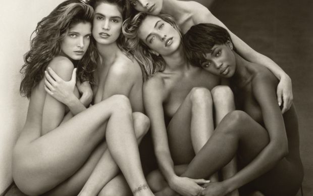 Herb Ritts, Stephanie, Cindy, Christy, Tatjana, Naomi, Hollywood, 1989, Copyright: © Herb Ritts Foundation. Credit: The J. Paul Getty Museum, Los Angeles, Gift of Herb Ritts Foundation