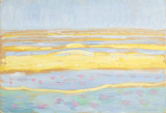 Piet Mondriaan, Seascape, 1909. Oil on cardboard, 34.5 x 50.5 cm, Gemeentemuseum Den Haag