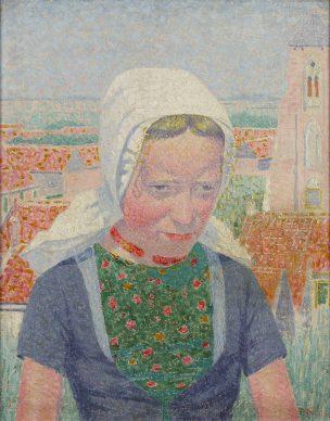 Ferdinand Hart Nibbrig, Girl from Zeeland, 1914. Oil on canvas, 50.5 x 40.5 cm, Gemeentemuseum Den Haag