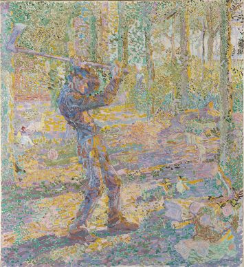 Jan Toorop, Labour (The woodcutter), 1905. Oil on canvas, 100.8 x 92.2 cm, Gemeentemuseum Den Haag, gift of the Society of Friends of the Gemeentemuseum Den Haag