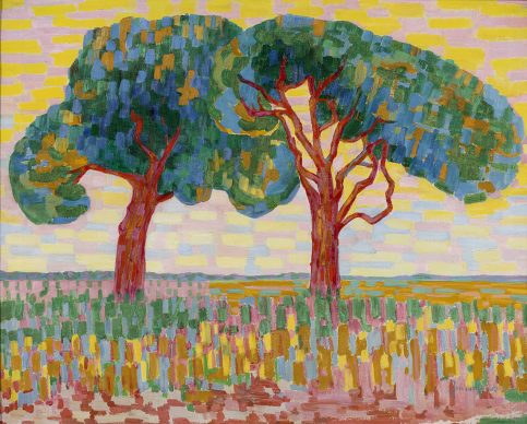 Jacoba van Heemskerck, Two trees, 1908-1910. Oil on canvas, 70.5 x 88.2 cm, Gemeentemuseum Den Haag