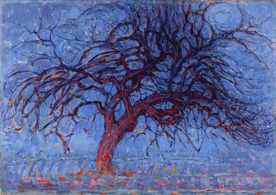 Piet Mondriaan, Avond (Evening): The red Tree, 1908-1910. Oil on canvas, 70 x 99 cm, Gemeentemuseum Den Haag, purchased from Mrs. M. Tak van Poortvliet, 1933