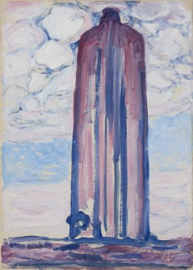 Piet Mondriaan, Lighthouse at Westkapelle with Clouds, 1908. Oil on canvas, 71 x 52 cm, Gemeentemuseum Den Haag