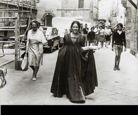 Sul set del film Romeo e Giulietta di Franco Zeffirelli, 1968