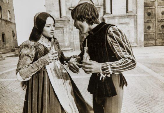 Una scena del film Romeo e Giulietta di Franco Zeffirelli, 1968