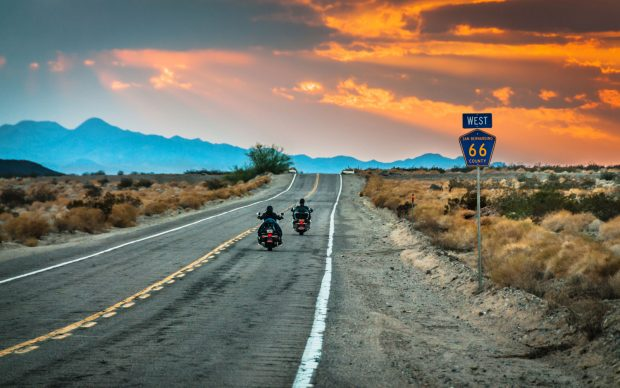 Sky Noir Photography by Bill Dickinson, Route 66, Riders, Getty Images