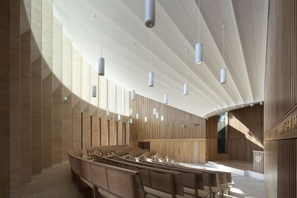 Niall McLaughlin Architects, Sultan Nazrin Shah Centre, Oxford © Nick Kane - Credit: RIBA Stirling Prize