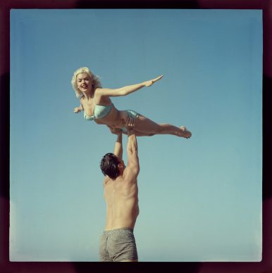 Jane Mansfield, Mickey Hagarty, color slide, 1955 © Peter Gowland