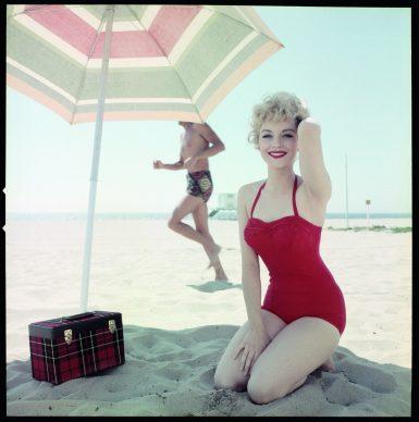 Venetia Stevenson, color slide, ca. 1957 © Peter Gowland