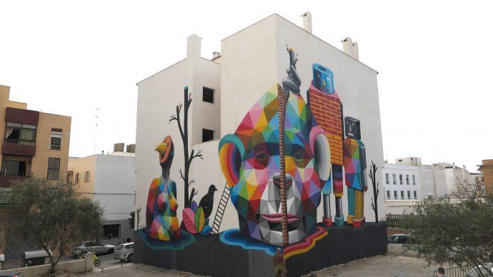 Okuda, Multiverse, BLOOP International Proactive Art Festival 2015, Ibiza