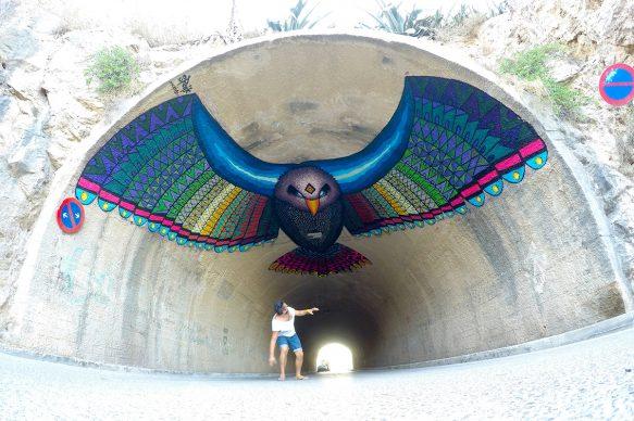 Spaik, NO FEAR, BLOOP International Proactive Art Festival 2016, Ibiza (photo by artist)