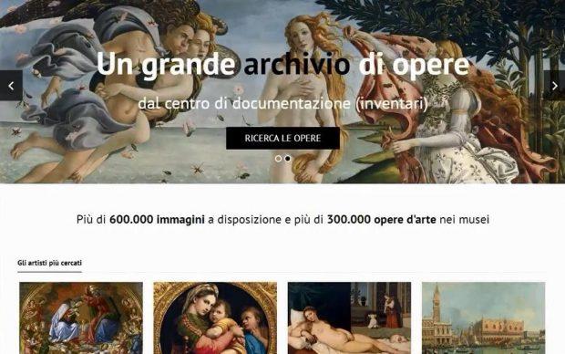 Archivio fotografico online gallerie uffizi